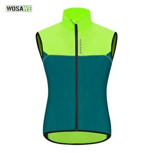 Men's Cycling Vest Waterproof Reflective Sleeveless Windproof Cycling Clothing