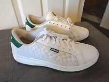 MENS WHITE & GREEN LEATHER PRINCE CLASSIC COURT SNEAKERS SIZE 9 XLNT!!
