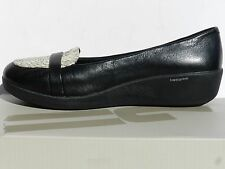 Fitflop F-Pop Leather Loafers Chaussures Femme 37 Ballerines FF2 Babies Neuf UK4