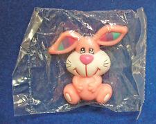 Russ Pin Easter Vintage Bunny Rabbit Rainbow Ears Holiday Brooch Pink Mip