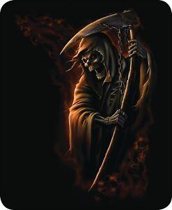 Queen Chain Grim Reaper Evil Death Ah Scary Mink Faux Fur Blanket Warm Soft Full