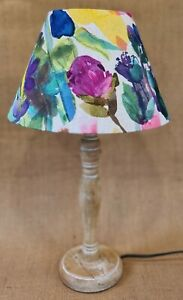 Handmade Bluebellgray PETITE MODE floral rose tapered table pink lampshade 30cm