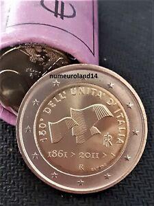 DISPO 2 euro ITALIE 2011 Commémo Unification de l'Italie. NEUVE. Envoi en suivi.