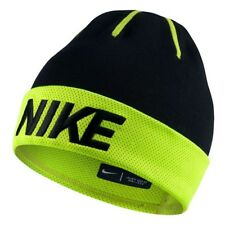 84e18f2f499 Nike Unisex Performance Beanie Junior Hat Winter Cap Youth Black volt One  Size
