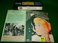 VHS *NIGHTS OF CABIRIA (1957)* Pre Cert - Federico Fellini Video Classics Issue!