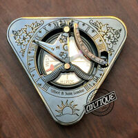 Marina Sundial and Compas Clock Working Astrolabe Nautical Compass Gifts