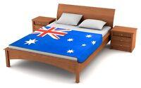 "Fuzzy Flags™ Australia Flag Fleece Blanket 80"" x 50"" Oversized Australian Throw"