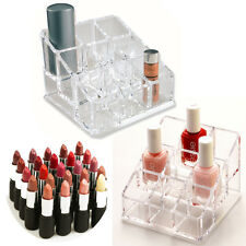 Lipstick Makeup Cosmetic Holder Dressing Table Storage Brush Clear Nail Varnish