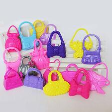 10pcs Cute Girl Mix Different Barbie Doll Mini Barbie Handbag Shoulder Bag