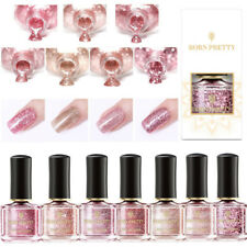 7Bottles/Set BORN PRETTY Sequins Nail Polish Glitter Rose Gold  Varnish