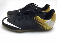 Nike Soccer Bombax Indoor Soccer Shoes Size Youth 5.5 Black/Gold New