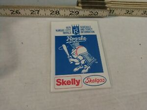 MLB BASEBALL 1979 KANSAS CITY ROYALS pocket schedule Skelly