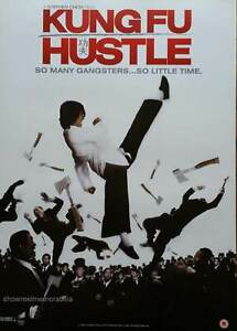 KUNG FU HUSTLE Original 2004 UK Movie POSTER Video store release Stephen Chow