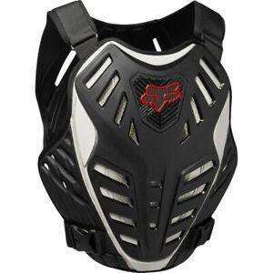 Fox Men's Adult Race Subframe Chest Body Protector Black Deflector 21864-001