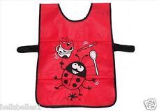 Bugzz Kids Ladybug Tabard Childrens Childs Girls Ladybird Painting Cooking Apron