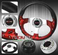 Light Weight Steering Wheel + Hub Adapter + Quick Release For S13 S14 300Zx 350Z