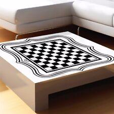 International Chess Board Tea Table Glass Desktop Vinyl Sticker Home Bar Decorat