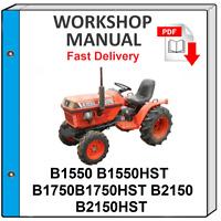 KUBOTA B1550 B1750 B2150 TRACTOR SERVICE REPAIR WORKSHOP MANUAL