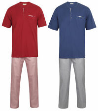 Walker Reid Pijamas para Hombre Algodón Top & Geo Estampado Tejido Pj Fondos Set
