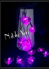 8 LED PURPLE BATS Battery Operated Halloween Spooky Decoration  Lights