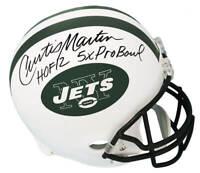 Curtis Martin Signed NY Jets Riddell Full Size Rep Helmet w/HOF,Pro Bowl -SS COA