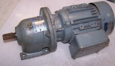 NEW STEPHAN .12 HP / .09 KW AC GEARMOTOR 220 / 380 VAC 1680 RPM 3 PHASE TYPE 7AM
