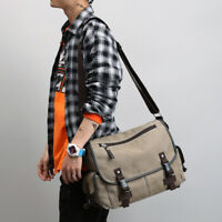New Mens Crossbody Bag Shoulder Messenger Rucksack Schoolbag Travel Canvas Bags