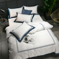 Luxury Egyptian Cotton Bedding Sets Full Queen King Duvet Cover Fitted Sheet set