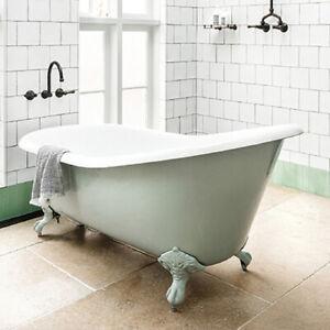 Roll Top Slipper Cast Iron Bath Windsor & Buckingham 1560mm No Tap Holes