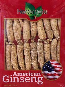 Hand-selected A Grade American Ginseng Root Small Thin Short Size (4 Oz. Box)