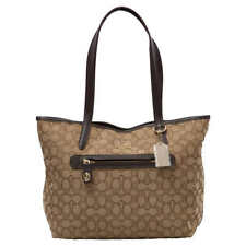 Coach 37229 Taylor Khaki/brown Signature C Jacquard Tote Bag