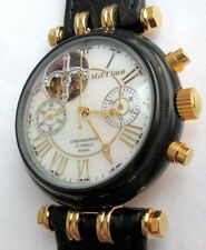 Russian WATCH Chronograph MAKTIME Skeleton, mother of pearl dial, Movement 3133