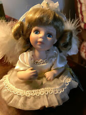 Geppeddo Angel Porcelain Doll With Wings Blonde Hair 08B263 No Box 6 Inches