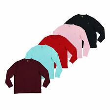 Polo Ralph Lauren para hombre de manga larga T-Shirt Tee Cuello Redondo Logotipo PONY S M L XL XXL