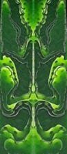 "Lime Mesh Acrylic 2 pc Mini Knife 3/16""x3/4""x3 34; #60"