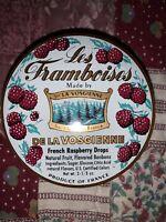 DE LA VOSGIENNE Les Framboises French Raspberry Candy Drops Advertising Tin