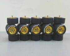 5 sets Watanabe 8sp Gold TOYO TIRES long axle fit 1:64 hot wheels rubber tires
