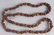 Vintage Israel Wood Beads Necklace 16.5 in. long Handmade 40+ years old