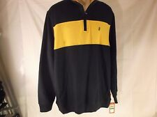 Men's - L - Izod - French Terry Pull-Over - Blue & Gold