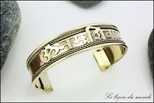 Bracelet Indien mantra Oṁ namaḥ Shiva bijoux ethniques femme homme AIBCO 01
