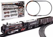 Eisenbahn Set Rail King mit Licht - Zug Batteriebetrieben LOK+9 Wagons NEU/OVP
