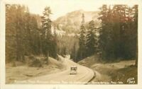 Chinook Pass Rainier National Park Washington Ellis RPPC Photo Postcard 20-15
