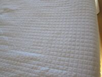 Vintage The White Company pale ivory  bed cover bed spread king size
