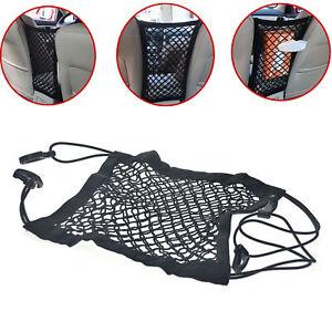 Car Seat Mesh Organizer Storage Cargo Net Pocket Luggage Hook Pouch Holder Auto