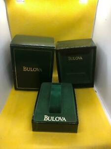 New Old Stock Vintage Bulova Empty Wrist Watch Box With Outerbox Green/Green