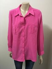 "pre-loved ""Suzanne Grae"" fluro pink button down collar shirt size 10"