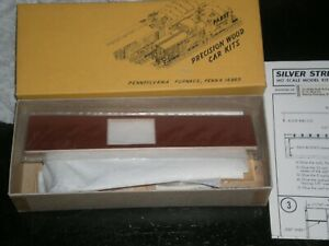 Silver Streak HO scale Undecorated 50' Double Door Box Car Kit