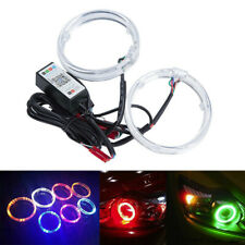 "Pair 3"" RGB Car COB LED Angel Eyes Halo Ring Light Decorative Lamp APP Control"