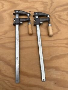 "Set of 2 Craftsman Sliding Arm Bar Clamps 12"" Model #66767  - Used condition"