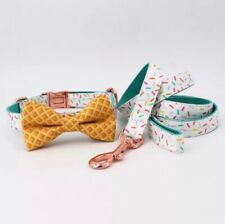 Sprinkles Collar With Cone Bow And Lead